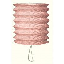 Lampion en papier cylindrique Rose 15cm
