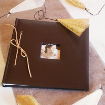 Livre d'or mariage soft Chocolat