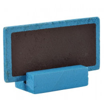 Marque place ardoise rectangulaire Turquoise