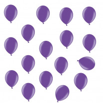 Mini ballon gonflable nacré Violet 12cm