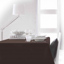 Nappe de table Today Rectangulaire 150 x 250 cm Chocolat