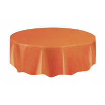 Nappe ronde en plastique Orange 210cm