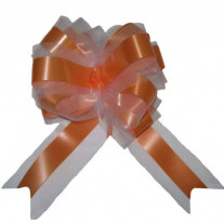 Noeud en tulle Orange 50cm