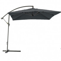 parasol rectangle 2x3m pas cher aluminium gris marque. Black Bedroom Furniture Sets. Home Design Ideas