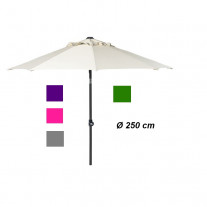 Parasol Aluminium rond inclinable 250cm 6 Couleurs