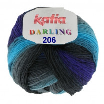 Laine a tricoter Katia Darling Turquoise Grise