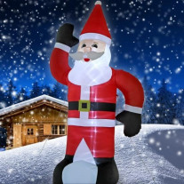 Pere noel lumineux gonflable 120cm