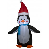 Pingouin lumineux gonflable 120cm