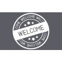 Tapis Welcome grunge 50x80cm