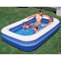 Piscine rectangulaire bleu
