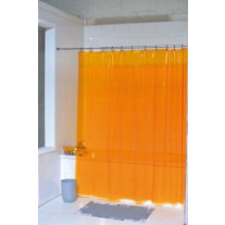 Rideau de Douche Inox Orange translucide