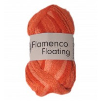 Pelote de laine flamenco floating Orange