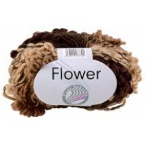 Pelote de laine Flower Color Grundl Marron