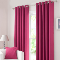 rideau fuchsia a oeillets pas cher linge de maison badaboum. Black Bedroom Furniture Sets. Home Design Ideas