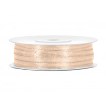 Ruban de satin 3mm Ivoire