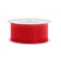 Ruban Organdi 38 mm Rouge