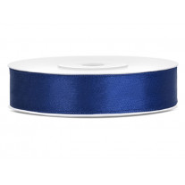 Ruban satin 12mm Bleu marine