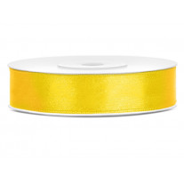 Ruban satin 12mm Jaune