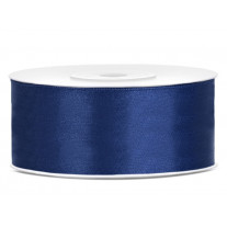 Ruban satin 25 mm Bleu marine