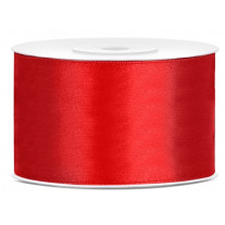 Ruban satin 38mm Rouge