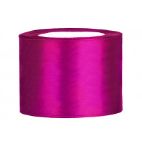 Ruban satin large Fuchsia 50 mm Uni de 25 mètres