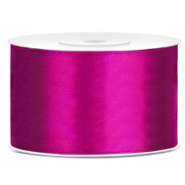 Ruban satin large Fuchsia 38mm