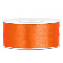 Ruban satin Orange 25mm