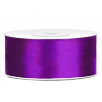 Ruban satin Violet 25mm
