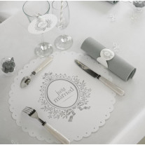 Set de table jetable just married