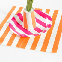 serviette papier rayure orange