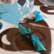 Set de table coeur Chocolat x50