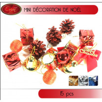 Suspension sapin de Noel Assortis x 15 pièces