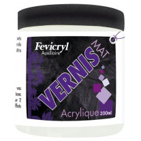 Vernis satiné acrylique en pot de 200ml