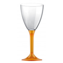Verre à vin plastique Orange Transparent