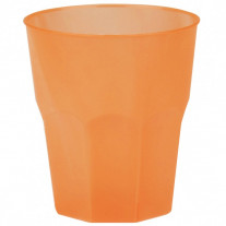 Verre cocktail plastique Orange Transparent
