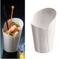 Verrine en plastique rigide conique Blanc