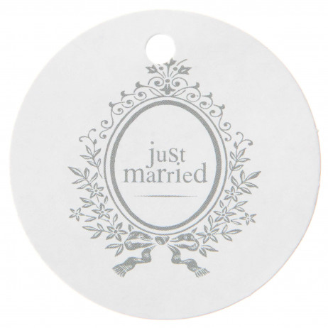 Marque place Just Married Blanc
