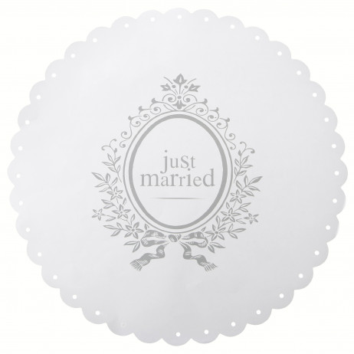 Set de table blanc JUST MARRIED