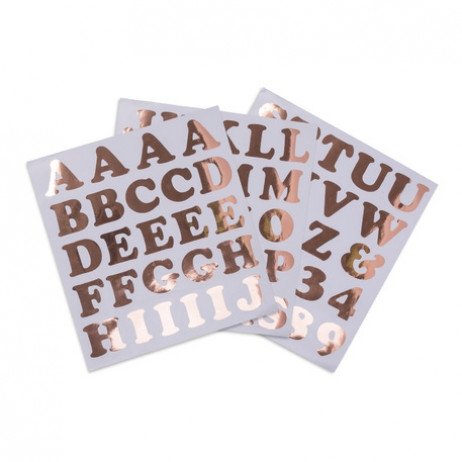 71 Stickers alphabet chiffre Rose