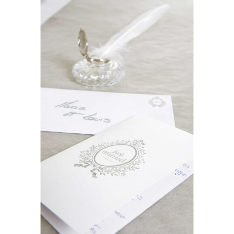 Carte Just Married Blanc