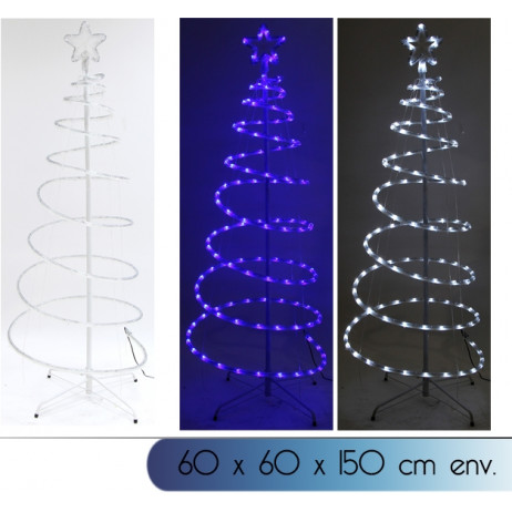 Arbre de noel lumineux variation de couleur blanc et bleu