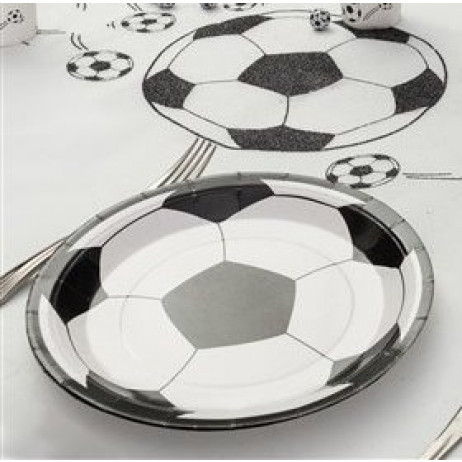 assiette carton football 23cm vaisselle jetable pas cher badaboum. Black Bedroom Furniture Sets. Home Design Ideas