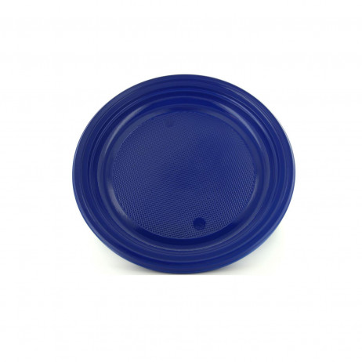 Assiette plastique ronde bleu marine 17cm vaisselle for Piscine ronde plastique