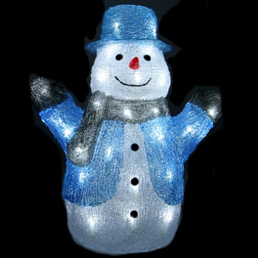 Bonhomme de neige lumineux acrylique 40 LED