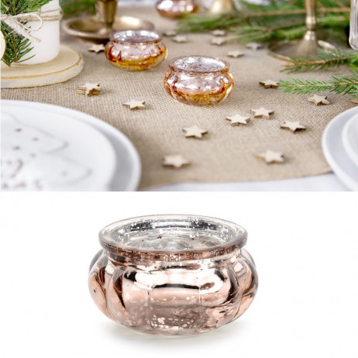 Bougeoir mariage large rose gold