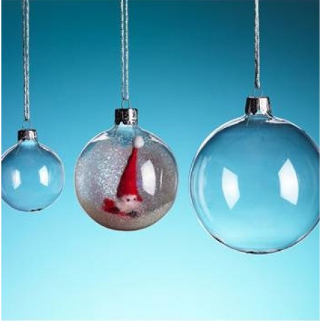 boule de noel en verre transparent 8cm deco noel badaboum. Black Bedroom Furniture Sets. Home Design Ideas