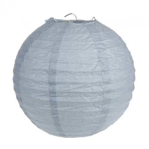 Boule en papier Grise 30cm