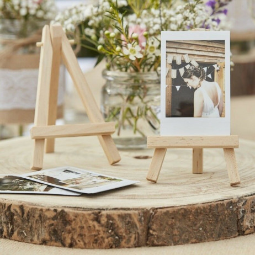 Chevalet de table en bois naturel 18 cm