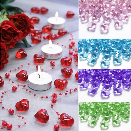 coeur strass mariage deco table