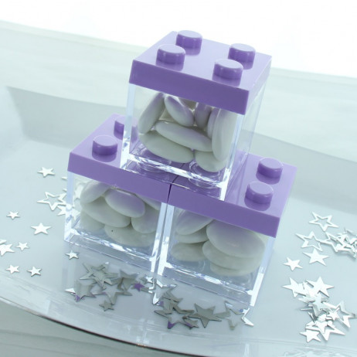 Contenant dragees plexi LEGO Parme